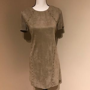 Design Lab Brown Suede Dress with Studs